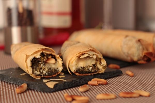 Schafskäse-Spinat-Zigarren
