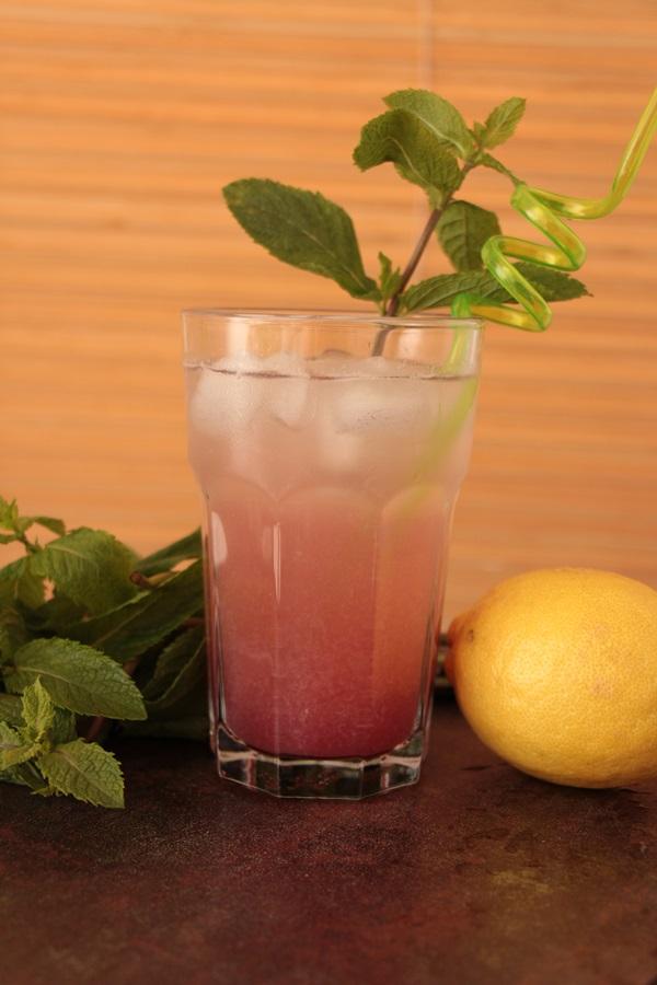Minz-Pfirsich-Sparkler