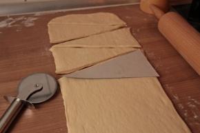 Croissants-Zuschneiden