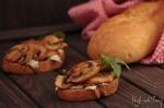Ciabatta mit Pilzen und Mozarella - Ciabatte con funghi e mozzarella