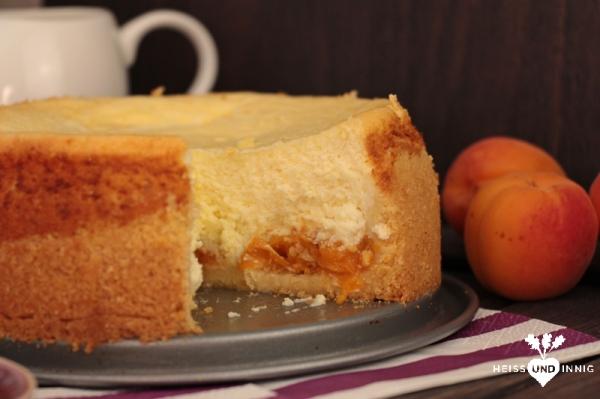 Frisch und sommerlich: Aprikosen-Käsekuchen