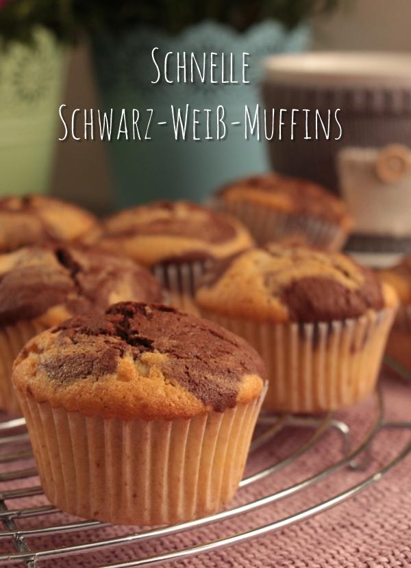 Schnelle Scharz-Weiß-Muffins falls spontan Besuch ins Haus steht | heissundinnig.com
